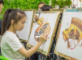 开心暑假-一起学画画